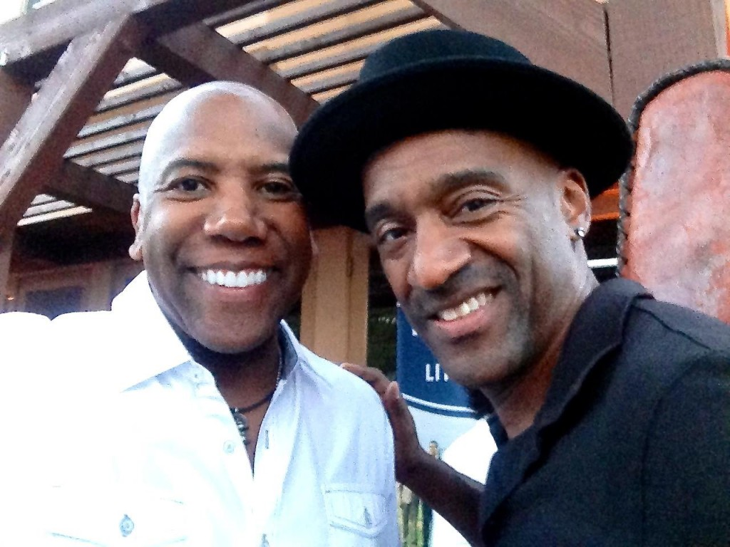 October 2013 - with Marcus Miller at LADF Charity event to benefit Jackie Robinson Foundation Scholarship Program.