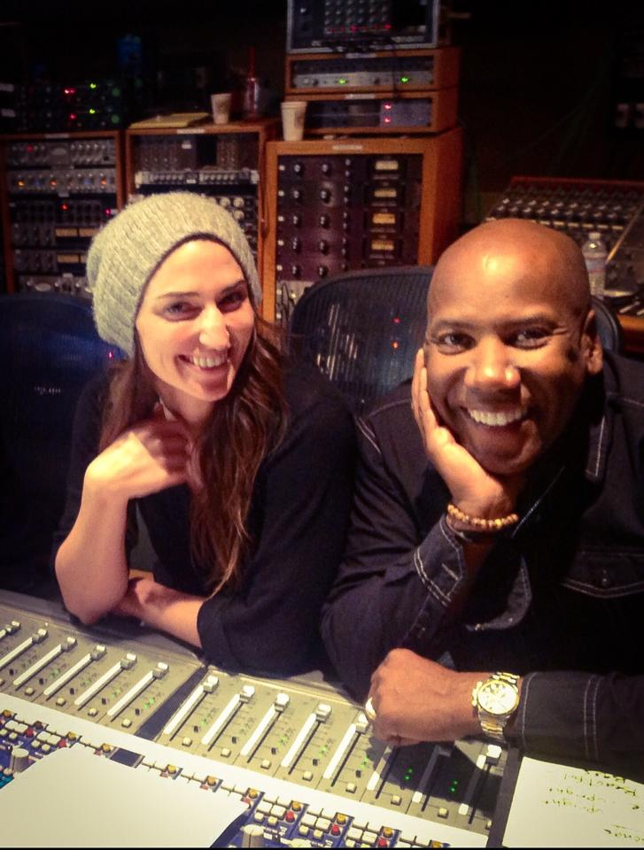 Recording for Nate's album with Sara Bareilles